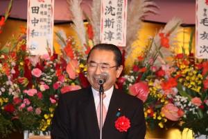 神奈川県・川崎市日華親善協会の田中和徳会長