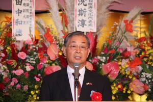 日本中華連合総会の毛友次会長
