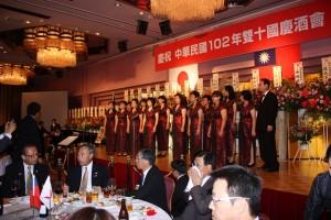 横浜華僑総会華韻合唱団による合唱