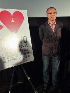 曾獲得金馬獎最佳導演的鍾孟宏,在東京影展上感謝影迷到場支持