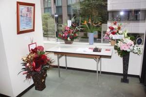 テレビ局からも花が届けられた