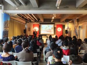 片倉佳史的演講會上約有90餘位聽眾到場參加