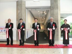 駐那霸辦事處處長蘇啟誠(左2)應邀參加開幕儀式