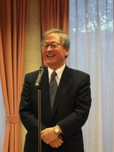 日本交流協會理事長今井正參加駐日代表處舉辦的新年祝賀會