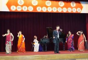 台湾歌謡の歌手、斉藤裕さん、ベリーダンスのAAYAさん