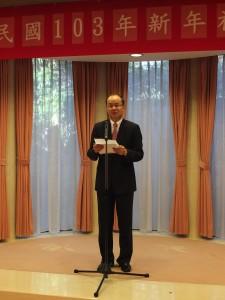 駐日代表沈斯淳在新年祝賀會上表示台日觀光往來人數去年突破350萬人次,今後將朝突破400萬人次目標前進