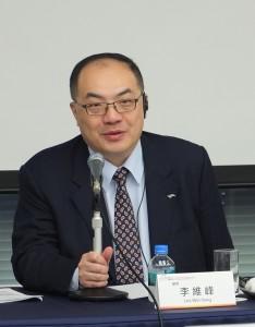 桃園縣顧問李維峰在招商會上解說桃園航空城的魅力