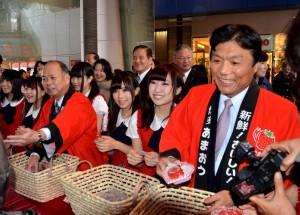 福岡縣參訪團至新竹辦理甘王草莓產銷會(照片提供:新竹市政府)