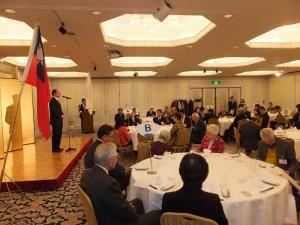 駐橫濱辦事處處長粘信士應邀出席並致詞呼籲大家持續推動靜岡與台灣的各項交流