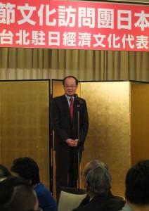 駐日代表沈斯淳感謝京濱地區僑領協助安排春節文化訪問團的演出