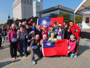 不少台灣跑者前來參加東京馬拉松賽,進行運動交流