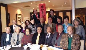 日本臺灣福祿壽會舉行新年懇親會,當日出席來賓及會員合照