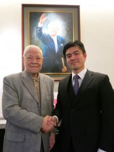 安西直紀氏は台湾訪問中に李登輝氏とも単独会見を行った