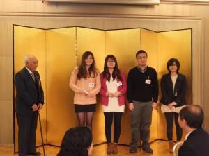 遠州日華親善協會會長飯尾健太郎頒贈獎學金給4位台灣留學生