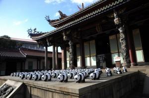 台北孔廟也可見紙貓熊蹤影(照片提供:台北市政府)