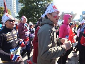 台灣跑者努力向前跑