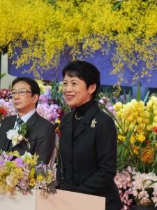 日本皇室成員高圓宮妃久子出席14日的開幕和頒獎儀式