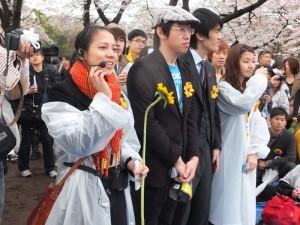 活動總召何時宜(左1)表示希望透過活動讓學生的聲音被聽到