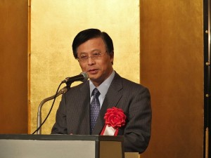 駐日副代表陳調和致詞表示台日國民間擁有共同價值,是最珍貴的資產