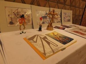 會場展示代表新竹縣的文創作品