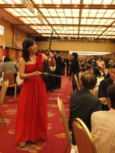 來自新竹縣文化的楊心彤,帶來精采的二胡演出,獲得熱烈掌聲
