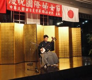 津輕三味線演奏家福嶋孝顯,演奏日本傳統樂曲