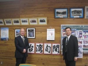 豐榮小學校長鈴木明表示不定期在校內會舉辦「台灣旬間」展,介紹台灣各項資訊