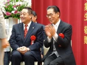 理事長羅辰雄(右)、理事李忠儒(左)