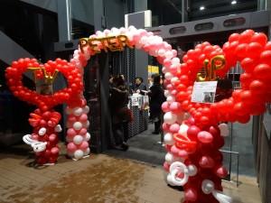 何潤東(Peter)影迷在會場入口設置的歡迎拱門