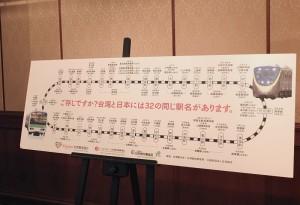 台日同名車站活動,讓日本旅客有機會可以到台灣當一日站長