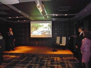 會中安排RALLY NIPPON理事長小林雄介,透過影片介紹去年到台灣舉辦古董車環台拉力活動