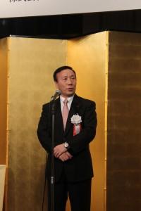 祝辞を述べるNTTドコモ代表取締役社長・加藤薫氏