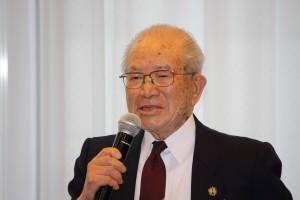 高座日台の会の野口毅名誉会長