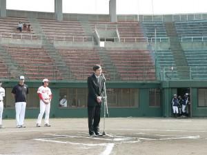 駐那霸辦事處處長蘇啟誠致詞表示台日棒球淵源深厚