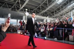 旅日球星王貞治現身開幕現場,希望能透過電影提振棒球風氣(照片提供:威視)