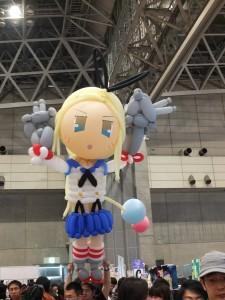 會場有許多動漫相關攤位和作品,讓人見識到日本的創作潛力