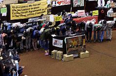 7日、学生グループによる記者会見の様子(写真提供:中央社)