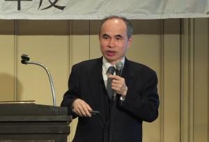 駐日代表處副代表余吉政呼籲在場日商能循與台企業合作的模式,攜手進軍第三地市場