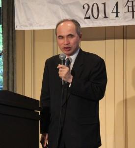 台北駐日経済文化代表処副代表・余吉政氏はセミナーで「台日経済交流及び産業連携の展望」について話した