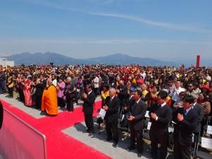 現場包括來自日本各地、台灣、中國、韓國、歐洲等國的信徒,超過千人共襄盛舉