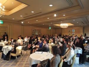 許多台、僑商和日本企業人士出席東京台商會首次舉辦的商業座談會