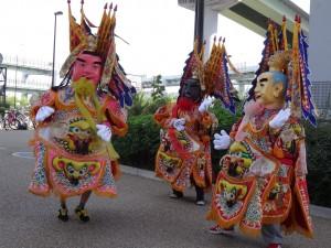 由台灣前來支援的舞樂藝劇團員