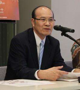 台北駐日経済文化代表処の顧問兼台北文化センター長の朱文清氏