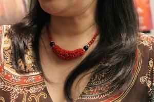 唐美雲さんからプレゼントされたという台湾伝統のネックレス