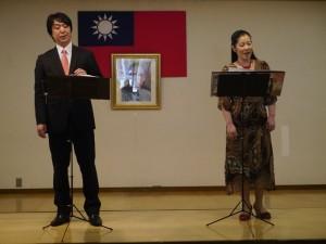 《梧桐雨》演出者秦貴美子(右)與渡邊大(左)