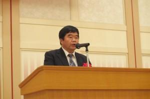 台北駐福岡経済文化弁事処の戎義俊処長