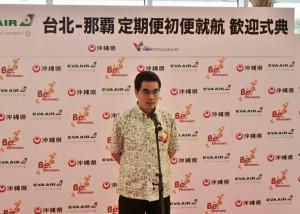 長榮航空副總經理聶健華盼近期可以再增加台沖航班