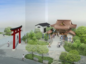 預計今年10月完工的「福德神社」預想圖(照片提供:三井不動產)