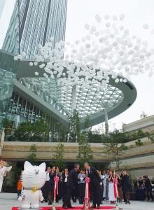 「虎之門Hills」今天正式開幕,由東京安達仕酒店負責人和森大廈公司社長一同出席剪綵儀式