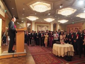 現場有超過500位台日人士出席由駐日代表處和故宮舉辦的感謝酒會